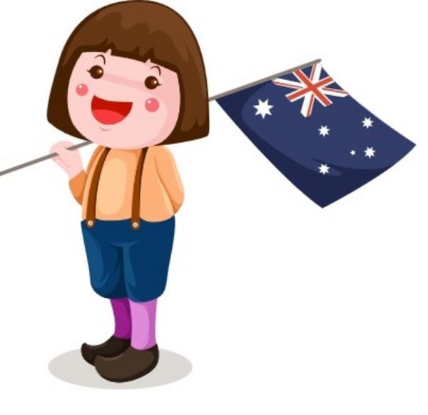 australian girl with flag Wichittra Srisunon 2010 scanpix